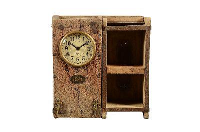 Clock Brick 2 shelves